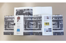 特殊折でビジュアルに制作したカタログや 冊子
