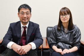 田中社長(左)と有元さん