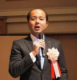講演する全印工連・臼田会長