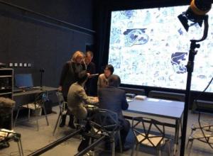 ドキュメンタリー映画「British Museum presents: Hokusai」撮影風景(右)