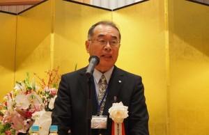 歓迎の言葉を述べる岩手大会の菅原実行委員長