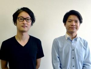 ウエーブ商品開発担当の日和田知洋氏(右)、製造担当の澤 知也氏