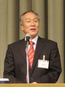 基調報告するRMGTの広川勝士社長