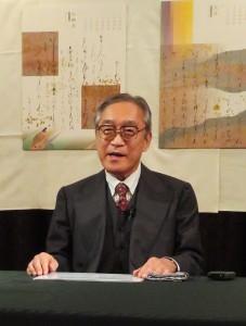 源氏物語について解説する中央大学の池田和臣教授