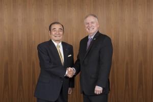 富士フイルムホールディングス 代表取締役会長・CEO 古森重隆、ゼロックスCEO Jeff Jacobson