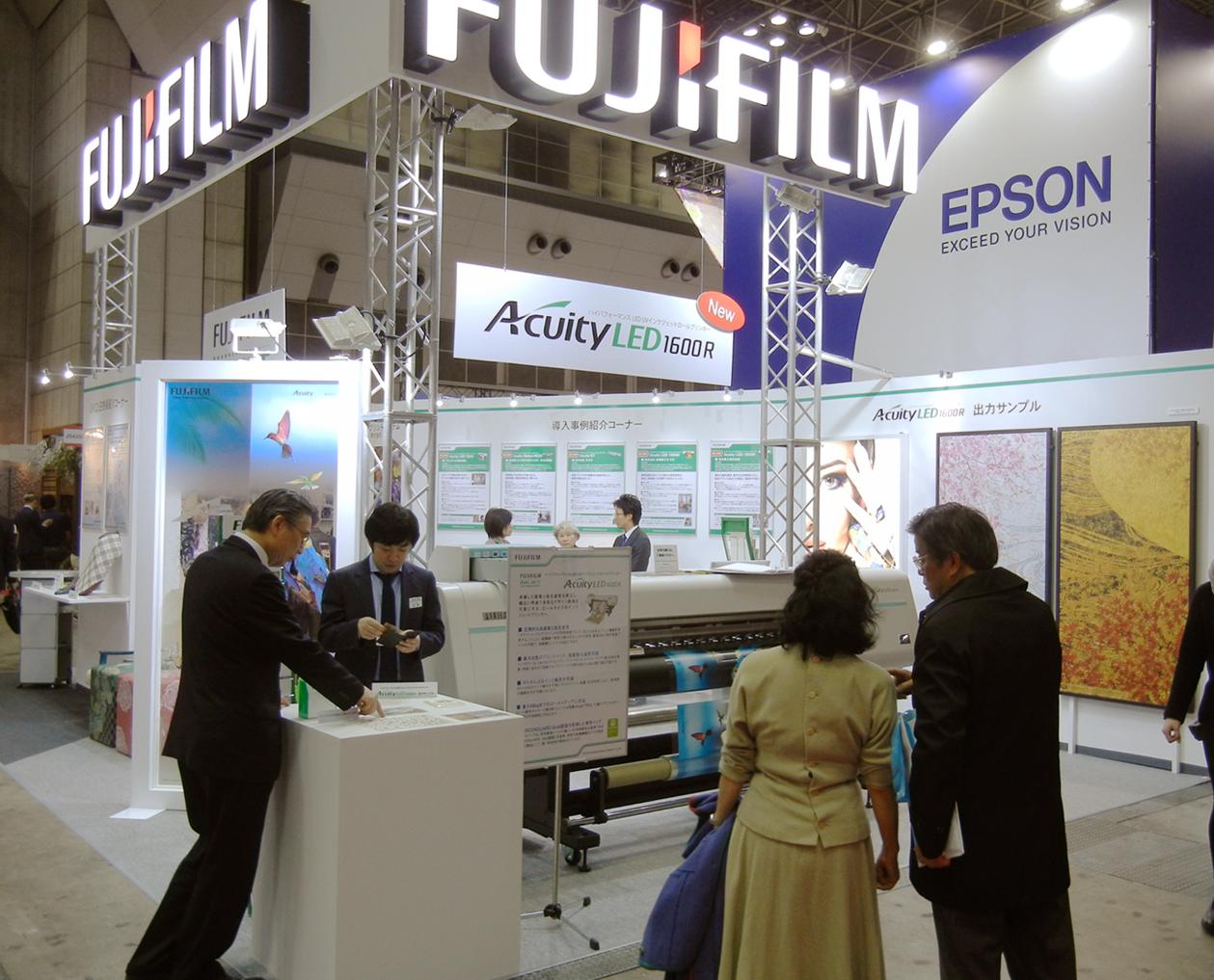 FFGSブースではAcuity LED 1600シリーズで出来るディスプレイづくりを提案