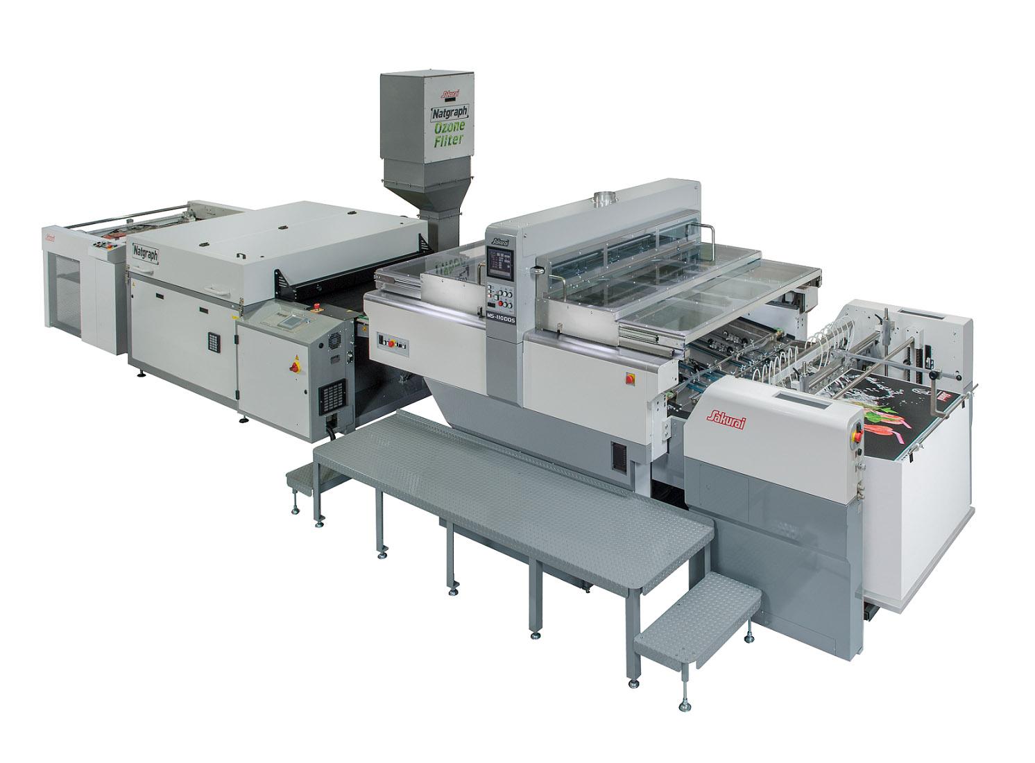 シリンダー型全自動スクリーン印刷機「MS-110DDS」