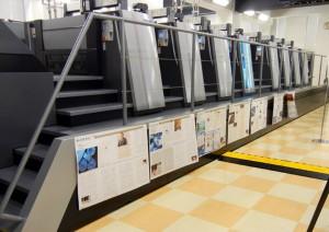 30分で12Jobを達成した菊全寸のび判8色印刷機 スピードマスターXL106-8-P LED