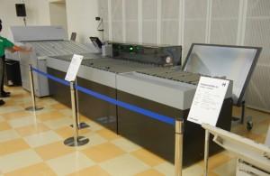 日本初公開となったCtPオートベンダー搭載機