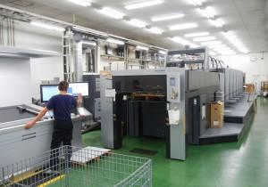 文化堂印刷に導入されたチンプー工場製スピードマスターCD102-6+L UV