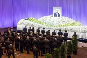 帝国ホテルで行われた藤田お別れの会には約1,500人が参列した