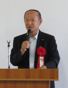 会社経営について語る岩渕理事長