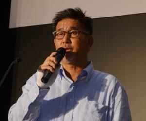 発表するグーフの岡本氏