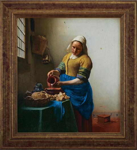 フェルメール「牛乳を注ぐ女」 © ijksmuseum,Amsterdam/PPS通信社
