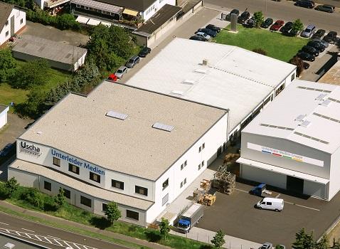 ウンターライダーメディエングルッペ社の敷地は 1万平方メートル以上に広がっている