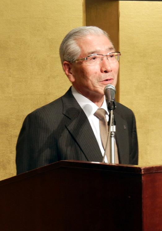 閉会挨拶で感謝を述べた伊澤社長