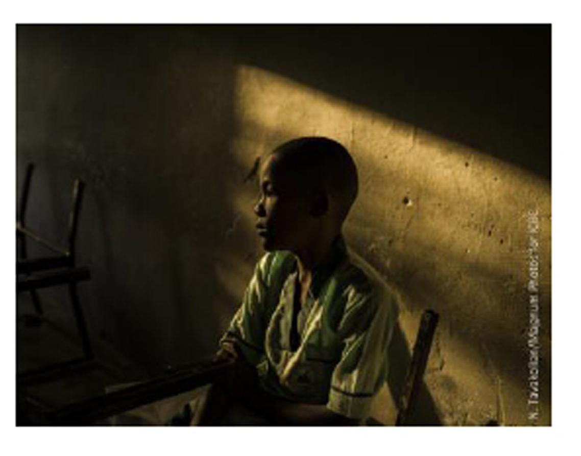 ナイジェリアのマイドゥグリにある学校にて