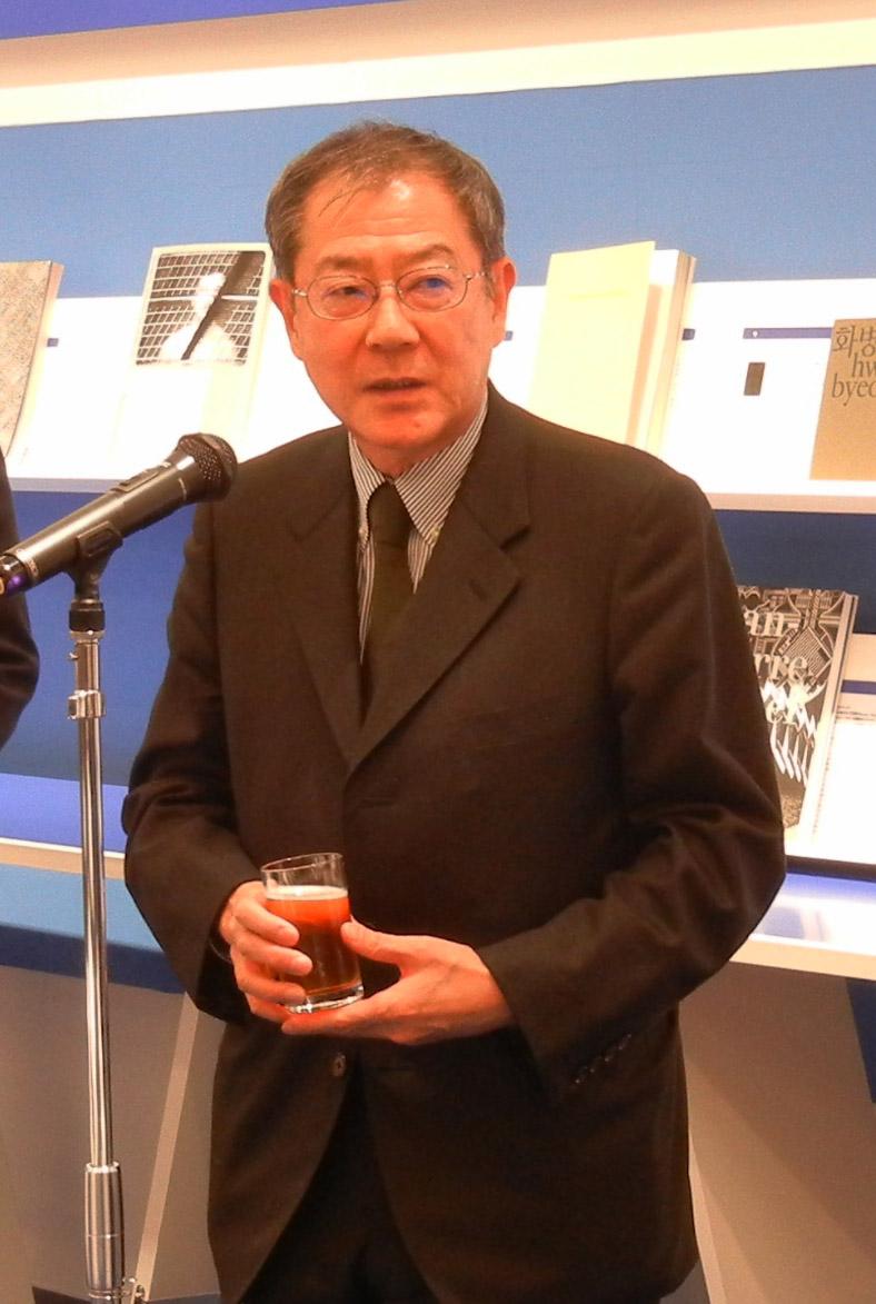 乾杯の発声をした日本書籍出版協会相賀理事長