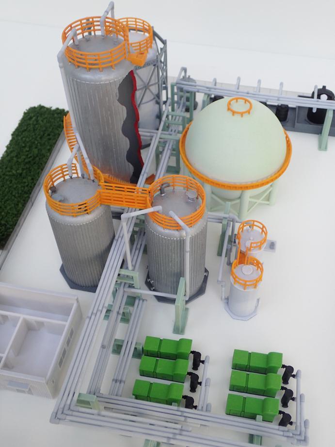 3Dプリンタで出力したプラント模型