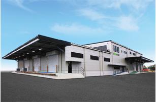 プリントネットの新九州工場(鹿児島県姶良市)
