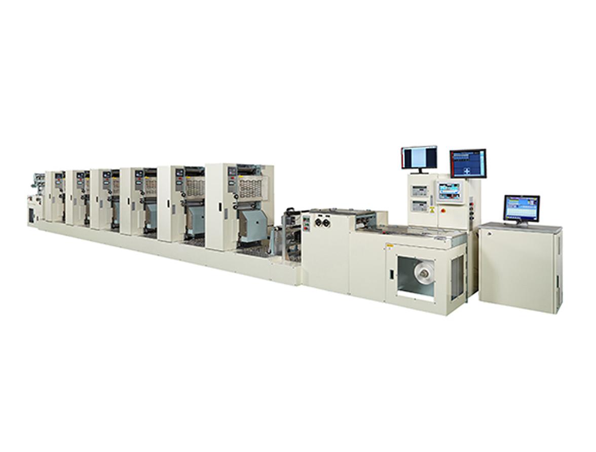 新たに開発した軟包装用水なしオフセット印刷機