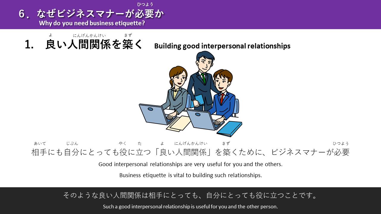 日本で成功するためのビジネスマナー(基本編)/英語対応