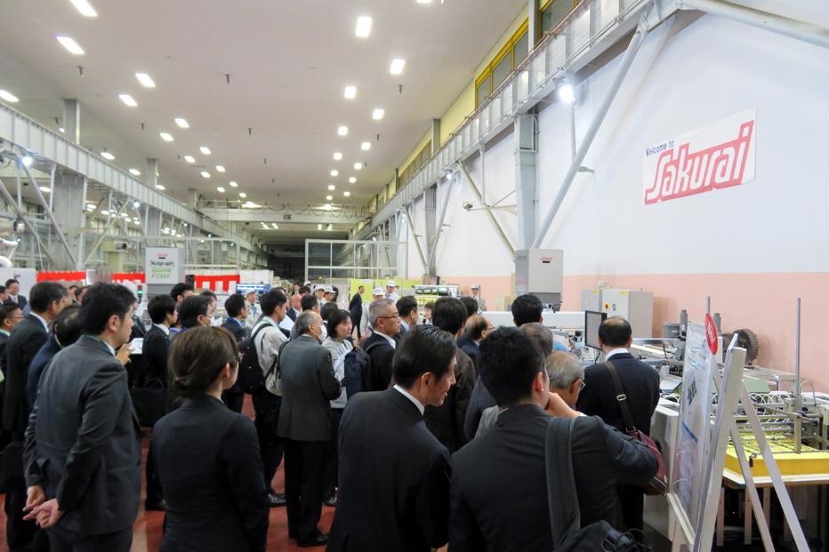 初日から多くの人が来場したサクライ技術発表会