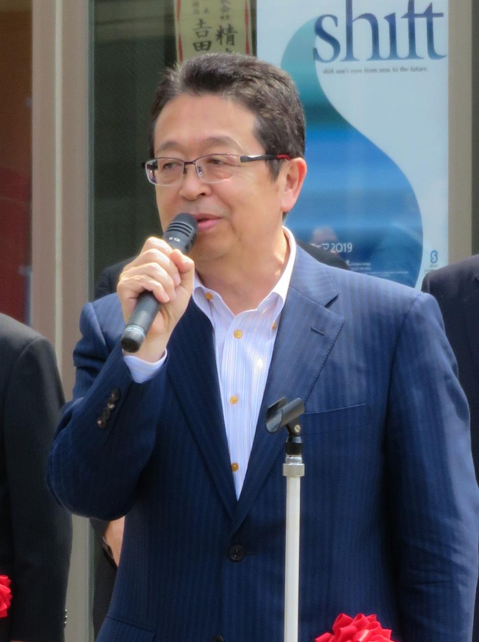 来賓挨拶する群馬工組・石川理事長