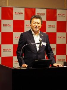 リコージャパンの坂主智弘代表取締役 社長執行役員 CEO