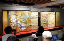 復元された「大坂冬の陣図屛風」