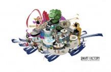 「つながる」をイメージしたThink Smart Factory 2019 IN KYOTOのビジュアルイメージ