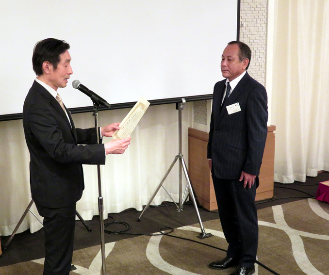 最優秀会社の新日本印刷を表彰