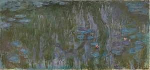クロード・モネ≪睡蓮、柳の反映≫デジタル推定復元図  制作:凸版印刷株式会社 監修:国立西洋美術館