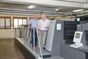 世界第1号となる新しいデザインのスピードマスターXL75の5色機、コーティングユニット付の印刷機が、 Theiler Druck AGに最近導入された