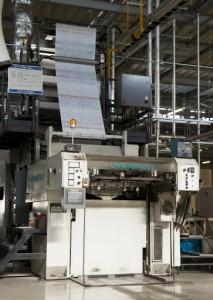 川島工場B縦半裁シート専用輪転印刷機