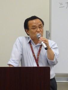オフセット印刷における水管理の大切さを解説する成田氏