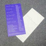 「Initial Type + Hot Stamp Exhibition」のDM