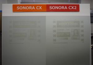 視認性も向上したSONORA CX2(右)とSONORA CXの比較