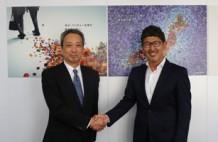 上越印刷工業 関智宏社長(左)、ソウルドアウト荻原猛会長CGO