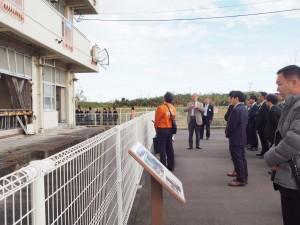 震災遺構・荒浜小学校を見学