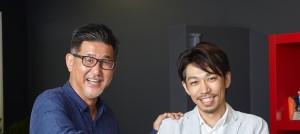 左)代表取締役 岡本幸憲氏 、右)C.O.O. 近藤寛一氏