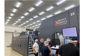 株式会社金羊社大口工場にて稼働を開始したUTECO Sapphire EVO Press