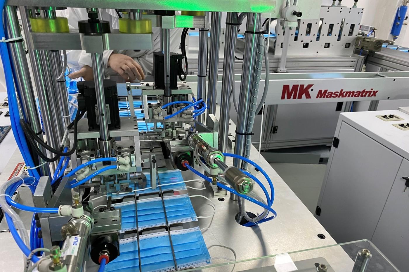 ハイデルベルグのパートナーで筆頭株主のマスターワーク MK 社は、2月末に MK ヘルス社( MK healthy Co., Ltd )を設立し、サプライチェーン全体を含めた医療用使い捨てマスクの製造に乗り出した