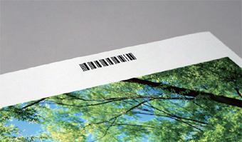 カレンダーに印刷されたバーコード