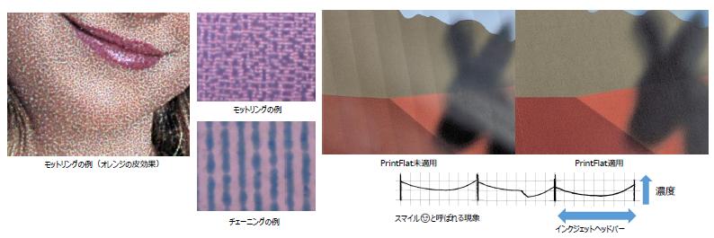 高い出力品質(ScreenPro & PrintFlat)(クリックすると図が拡大します)
