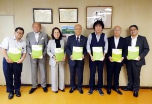 千葉県印刷工業組合執行部メンバー(7月16日会見で)