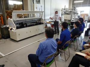 川島工場で実機見学会