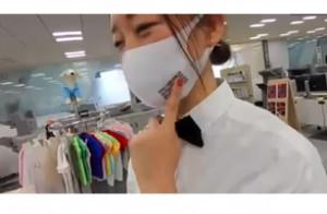 ガーメントプリンタで印刷した販促向けマスク