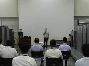 広川勝士代表取締役社長に よる開会挨拶