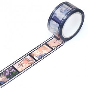 ネガフィルム風のテンプレートを使用した「手でちぎれるセロファンテープ」